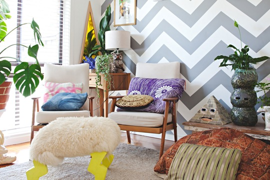 chevron accent